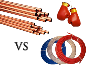 Copper vs pex plumbing info for Pex versus copper