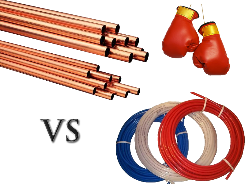 Copper vs pex plumbing info for Pex pipe vs copper